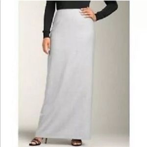 Talbots Cream Long Wool Skirt